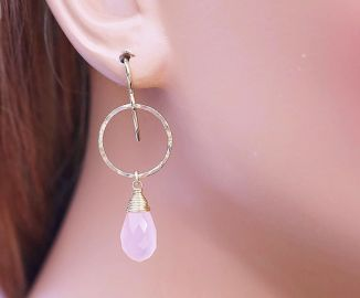 AdmirableJewels Chalcedony Earring at Etsy