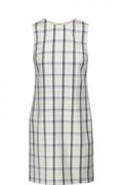Adraya checked wool-blend mini dress at The Outnet