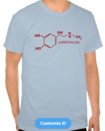 Adrenaline molecule tee at Zazzle