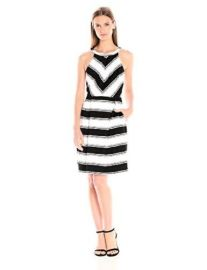 Adrianna Papell Stripe Dress at Amazon