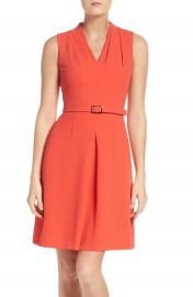 Adrianna Papell Cameron Belted Dress at Nordstrom