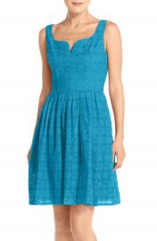 Adrianna Papell Capri Eyelet Fit and Flare Dress Regular and Petite at Nordstrom