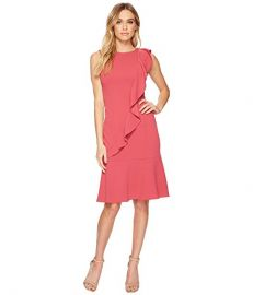 Adrianna Papell Knit Crepe Corkscrew Dress  at 6pm