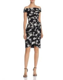 Adrianna Papell Living Blooms Off-the-Shoulder Dress Women - Bloomingdale s at Bloomingdales