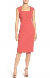 Adrianna Papell Pleated Sheath Dress at Nordstrom