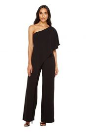 Adrianna Papell Women\'s One Shoulder Crepe Melania Jumpsuit at Amazon