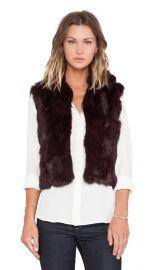 Adrienne Landau Textured Rabbit Fur Vest in Merlot  REVOLVE at Revolve