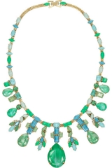 Aerin gold-plated Swarovski crystal necklace by Erickson Beamon at Net A Porter