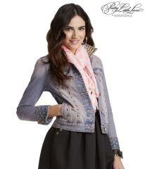 Aeropostale PLL Aria studded denim jacket at Amazon