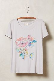 Afternoon Abroad Tee in Lavender at Anthropologie