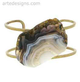 Agate Slice Cuff at Arte Designs
