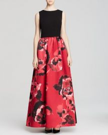 Aidan Mattox Gown - Sleeveless Floral Print at Bloomingdales