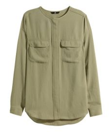 Airy Blouse in Khaki Green at H&M