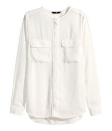 Airy Blouse in white at H&M