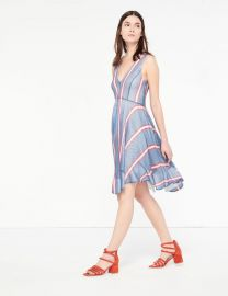 Airy Dress with Colored Stripes at Sandro