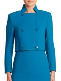 Akris - Isabella Croped Wool Crepe Jacket at Saks Fifth Avenue