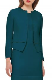 Akris Layered Hem Double Face Wool Jacket at Nordstrom