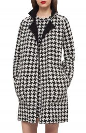 Akris Reversible Houndstooth Double Face Cashmere Coat at Nordstrom