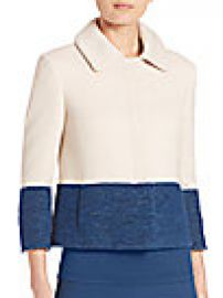 Akris punto - Cropped Colorblock Jacket at Saks Fifth Avenue