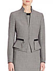 Akris punto - Wool Peplum Jacket at Saks Fifth Avenue