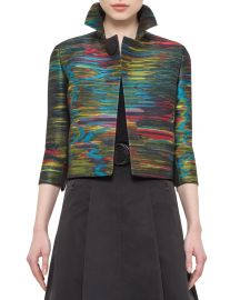 Akris punto Printed Bracelet-Sleeve Cropped Jacket  Northern Lights at Neiman Marcus