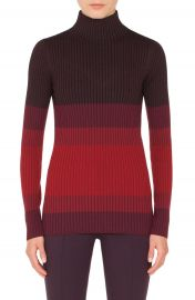 Akris punto Tricolor Wool Turtleneck Sweater at Nordstrom