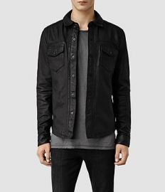 Alberton Leather Shirt at All Saints