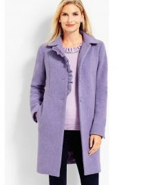 Albury Wool Ruffle Coat by Talbots at Talbots
