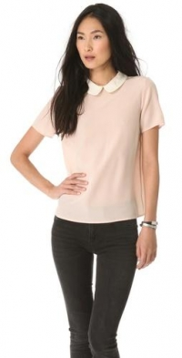 Alex Collar Top in Vintage Rose by Marc by Marc Jacobs at Shopbop
