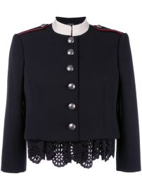 Alexander McQueen Military Lace Insert Jacket at Farfetch