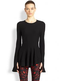 Alexander McQueen - Asymmetrical Peplum Wool and Cashmere Sweater at Saks Fifth Avenue