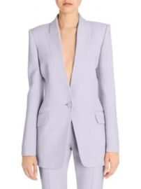 Alexander McQueen - Boxy Wool Blend Single-Button Jacket at Saks Fifth Avenue