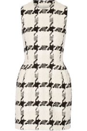 Alexander McQueen   Houndstooth tweed mini dress at Net A Porter