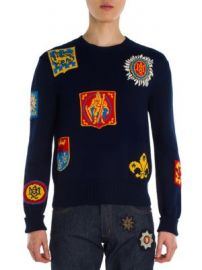 Alexander McQueen - Jacquard Badge Sweater at Saks Fifth Avenue