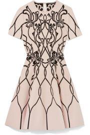 Alexander McQueen   Jacquard-knit mini dress at Net A Porter