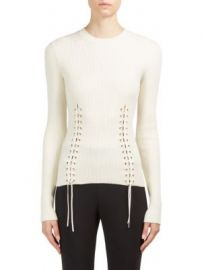 Alexander McQueen - Lace-Up Crewneck Pullover at Saks Fifth Avenue