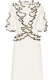 Alexander McQueen   Ruffled wool dress at Net A Porter