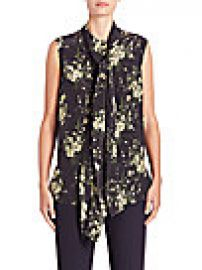 Alexander McQueen - Silk Daisy-Print Tie-Neck Blouse at Saks Fifth Avenue