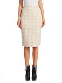 Alexander McQueen - Wool Tweed Pencil Skirt at Saks Fifth Avenue