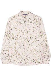 Alexander McQueen  Sweet Pea printed silk-satin shirt at Net A Porter