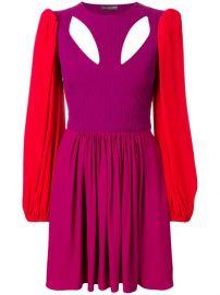 Alexander McQueen Colourblock Mini Dress - Farfetch at Farfetch
