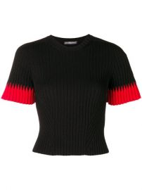 Alexander McQueen Cropped Ribbed Knit Top - Farfetch at Farfetch