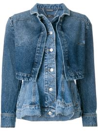 Alexander McQueen Denim Peplum Jacket  2 395 - Shop SS18 Online - Fast Delivery  Price at Farfetch