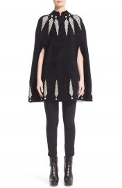 Alexander McQueen Feather Knit Cape at Nordstrom