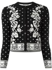 Alexander McQueen Floral Jacquard Cardigan at Farfetch