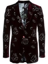 Alexander McQueen Floral Velvet Blazer at Farfetch