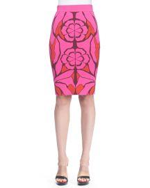 Alexander McQueen Flower Jacquard Pencil Skirt at Neiman Marcus