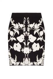 Alexander McQueen Intarsia Skirt at Stylebop