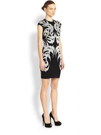 Alexander McQueen Short Bird Pencil Dress at Saks Fifth Avenue