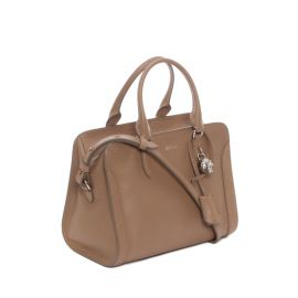 Alexander McQueen Small Padlock Satchel Bag  Brown at Neiman Marcus